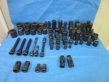 "67 ARMSTRONG IMPACT GUN SOCKETS SOCKET SAE 3/8"" 1/2"" STANDARD DEEPWELL USED"