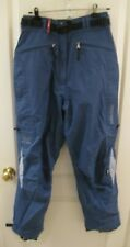 New listing Medium Helly Hansen Tech Light Blue Ski Snowboard Gaiter Vent Pants Cargo Pocket