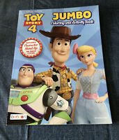 DISNEY PIXAR TOY STORY 4 JUMBO COLORING AND ACTIVITY BOOK !
