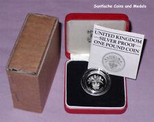 1984 ROYAL MINT SILVER PIEDFORT PROOF £1 COIN - Scottish Thistle Design