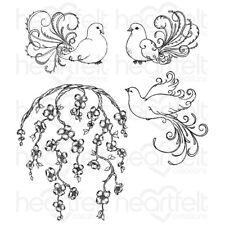 Heartfelt Creations Flowering Dogwood & Doves Cling Stamp Set HCPC-3775