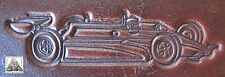 Formula One Indy 500 Race Car With Handle Hole Embossing Plate Leather Stamp #1