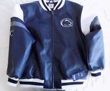 Penn State Nittany Lions Men's Full Zip Faux Leather Jacket