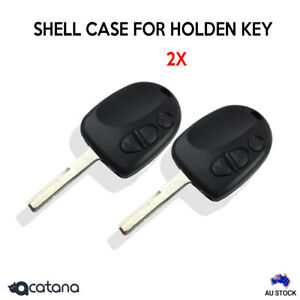 2x Key Blank Shell Case Enclosure Remote for Holden Commodore1999 2000 - 2006