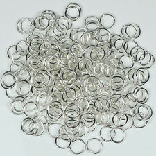 1000pcs Silver/Gold/Bronze Plated Open Jump Rings 3mm 4mm 5mm 6mm 7mm 8mm 9mm