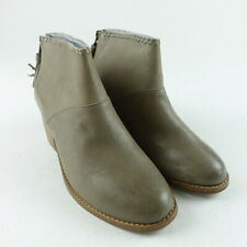 TOMS Women Size 6 Stone Burnished Leather Leila Ankle Bootie Shoes
