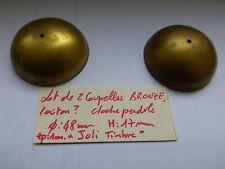 lot de 2 coupelle bronze , laiton ?? cloche pendule ancienne sonnette sonnerie