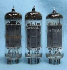 3-6CG7 6FQ7 Vacuum Tubes Tested Long Gray Plate Made in Japan