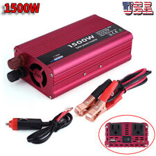 1500W Car Power Inverter Converter DC12V to AC 110V USB Charger Adapter US Stock