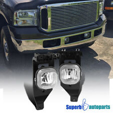 05-07 Ford F250/F350 SuperDuty 05 Excursion Fog Lights Bumper Lamps Clear+Bulbs