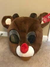 NWT Rudolph red nose Reindeer maskimal mask cosplay furry animal costume