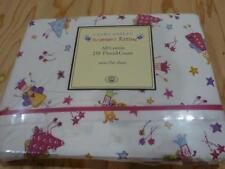Laura Ashley Girls Twin Flat Sheet Fun Fairies Princess Pink NIP