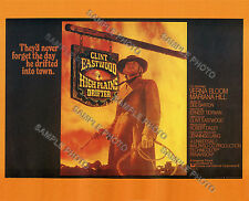 HIGH PLAINS DRIFTER CLINT EASTWOOD CLASSIC WESTERN MOVIE POSTER PRINT 8X10 PHOTO