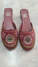 Sequinned slip-on ladies shoes size 10