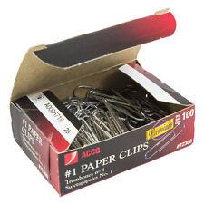 Acco Gem Premium #1 Paper Clips - Box of 100