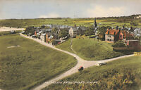 Alnmouth Village From Divers Knowe, Engand Lovely Rare Vintage Postcard (1958).
