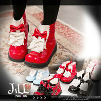 japan lolita fairy cosplay strawberry panic restaurant maid 3 bow ankle boots