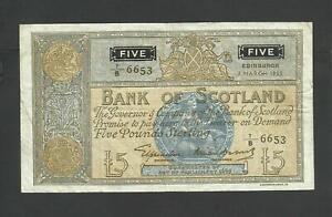 BANK OF SCOTLAND  £5    1955    P99b   EDINBURGH