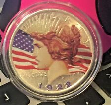 1922 -  SILVER PEACE DOLLAR - NICELY COLORIZED COIN - BOTH SIDES