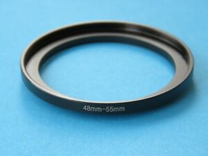 48mm to 55mm Step Up Step-Up Ring Camera Lens Filter Adapter Ring 48mm-55mm