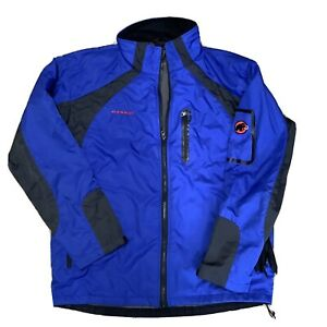 mammut jacket Softshell Technical Blue Coat XXL Fleece Lined Used With Faults