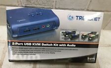 TRENDnet 2-Port USB KVM Switch and Cable Kit with Audio, TK-209K in box