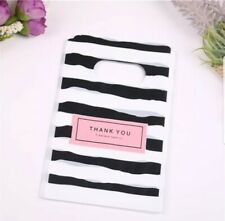 10 Black White Striped Packaging Thank You Bags for Small Gifts Jewelry & More!