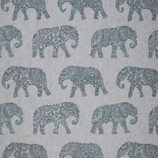 MASSIVE REMNANT John Lewis Elephant Embroidery Fabric - Approx 140cm x 2.4M