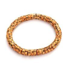 Yak Bone 8mm Beads Bracelet Tibetan Buddhism Amulet Retro Cross Handmade Jewelry