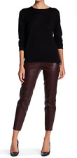 Theory Thaniel Genuine Leather Pant Cassis 8 NWT $995