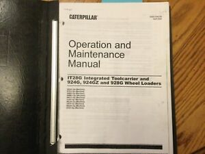 CAT Caterpillar IT28G 924G 924GZ 928G OPERATION MAINTENANCE MANUAL WHEEL LOADER