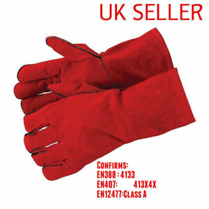 Welding Gloves Heat Resistant BBQ/Oven/MIG/TIG Welder Welder Gauntlets