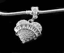 Granny charm  fits European style bracelet and necklace  Grandmother Jewelry