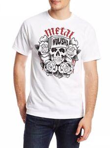 Metal Mulisha Mens Grumble Tee T-shirt White Size L