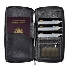 Cuir Rfid Blocage Passeport Portefeuille Support Organisateur Étui pour Français