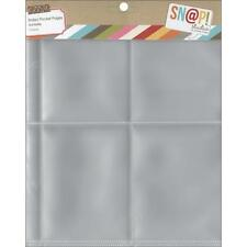 Simple Stories ~ SNAP ~ 3x4 Page Protectors ~ Refill Pages SN@P