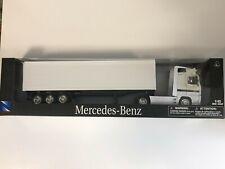 NEWRAY 15113 Camion Mercedes-Benz Actros Blanc Remorque 1/43 Miniature Neuf