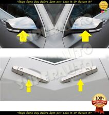 Fits 2014-2018 Chevrolet Impala Chrome Top Half Mirror + 4DR Handle Covers Trims