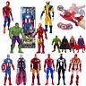 Marvel Avengers Spiderman Ironman Captain America Super Eroe Action Figures