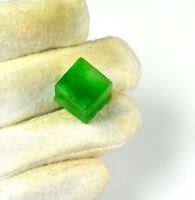 35 Ct. + Forme de cube naturel émeraude colombienne verte précieuse Gemme
