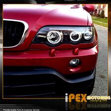 Facelift 2000-2003 BMW X5 E-53 E53 Halo Projector Black LED Headlights Headlamp