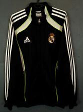 MEN ADIDAS FC REAL MADRID 2010/2011 JACKET TRAINING SOCCER FOOTBALL BLACK SIZE M