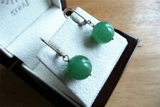 GREEN ONYX 925 SILVER RHODIUM PLATED DROP DANGLE LEVERBACK EARRINGS