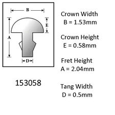 Sintoms 18% Nickel Silver Fret Wire 1.5mm. Set of 6 straight  pieces