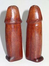 erotische Salzstreuer + Pfefferstreuer Holz Phallus Erotica Erotik salt pepper