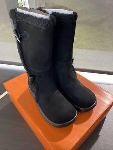 Rocket Dog Women's Slope Suede Winter Boot In Black Size UK 3 BRAND NEW