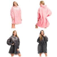 Fleece Hoodie Blanket Oversized Ultra Plush Sherpa Giant Big Hooded Sweatshirt