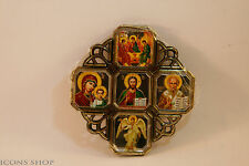 2 Car Amulet Cross Icon St Nicholas, Holly Marry, The Saviour , Angel 8X8Cm