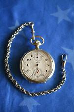 Taschenuhr mit Kette - ALPINA Chronograph - Kronenbetätigung der Stoppuhr