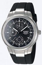 Casio Edifice Men's Quartz Multi-Function Black Rubber Band 41mm Watch EF305-1AV